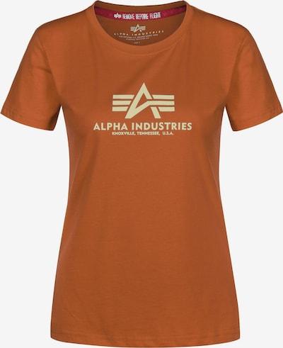 ALPHA INDUSTRIES T-Shirt in hellorange / dunkelorange, Produktansicht
