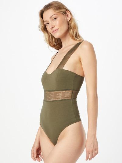 DIESEL Bodysuit in Olive: Frontal view