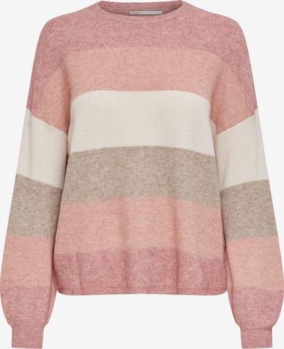 ONLY Pullover in grau / altrosa / weiß, Produktansicht