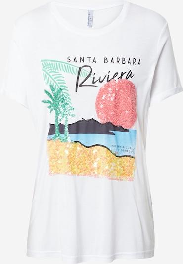 Sublevel T-Shirt in blau / grün / rot / schwarz / weiß, Produktansicht