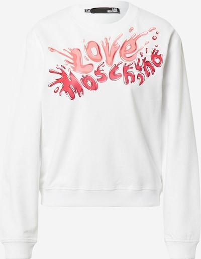 Love Moschino Sweater majica u koraljna / crvena / bijela, Pregled proizvoda
