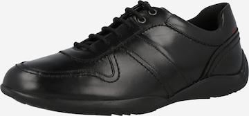 melns CLARKS Sporta apavi ar šņorēm 'Konrad'