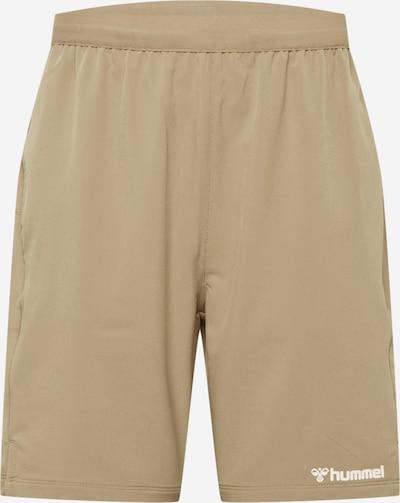 Hummel Pantalon de sport 'Torin' en kaki / blanc, Vue avec produit