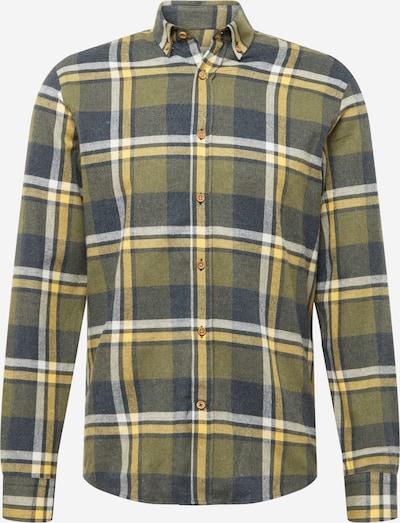 Kronstadt Button Up Shirt 'Johan Flannel' in Dark blue / Yellow / White, Item view