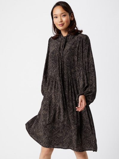 Gestuz Kleid 'Tika' in braun / schwarz, Modelansicht