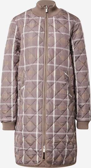 Palton de primăvară-toamnă ILSE JACOBSEN pe maro deschis / gri taupe / alb, Vizualizare produs