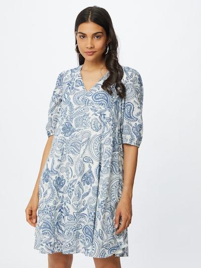 Marc O'Polo Kleid in taubenblau / weiß, Modelansicht