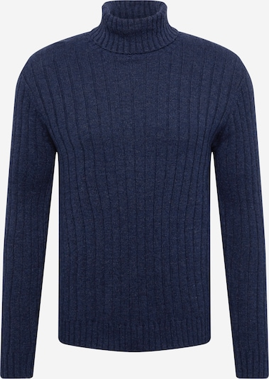 !Solid Sweater 'Vaughn' in marine blue, Item view