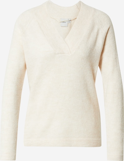 ICHI Pullover in creme, Produktansicht