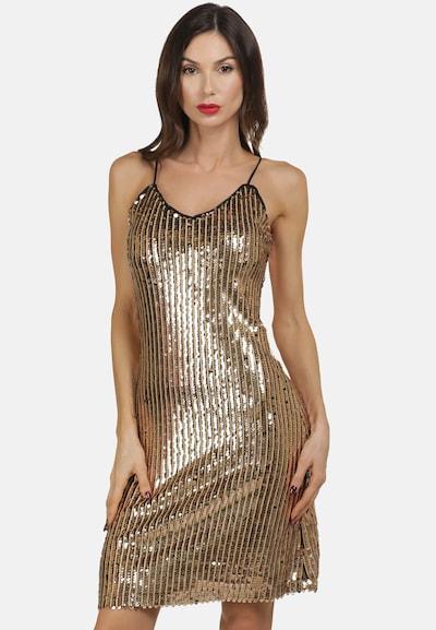 faina Kleid in gold, Modelansicht