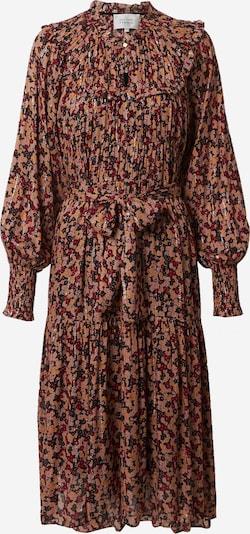 SECOND FEMALE Kleid 'Jean' in braun / weinrot / schwarz / silber, Produktansicht