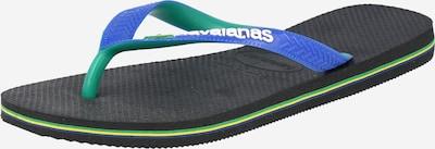 HAVAIANAS Sandalias de dedo 'BRASIL' en azul / verde / negro, Vista del producto