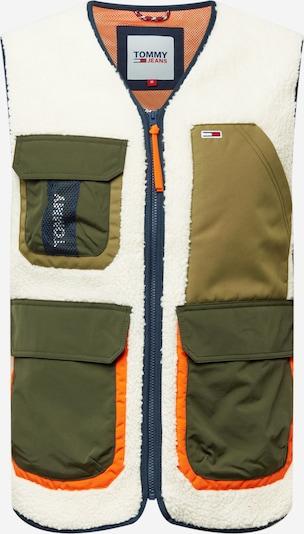 Tommy Jeans Gilet en bleu marine / kaki / orange fluo / blanc, Vue avec produit