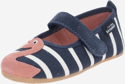 Living Kitzbühel Slipper 'Flamingo´s' in dark blue / cappuccino / white, Item view