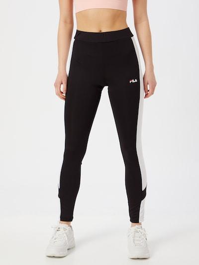 FILA Leggings 'Alya' in schwarz / weiß, Modelansicht