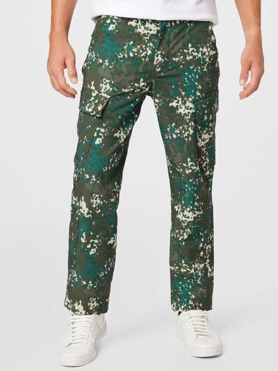 Pantaloni cu buzunare LEVI'S pe maro deschis / verde / kaki / verde închis, Vizualizare model