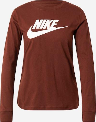 Nike Sportswear Shirts in rostbraun / weiß, Produktansicht