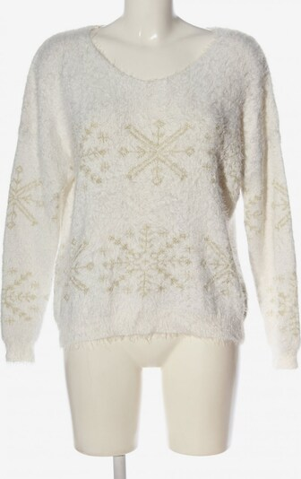 BRAVE SOUL V-Ausschnitt-Pullover in M in nude / weiß, Produktansicht