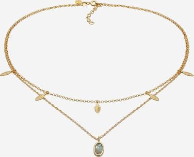ELLI PREMIUM Halskette Boho, Feder, Layer in gold, Produktansicht