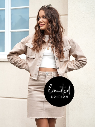 ABOUT YOU Limited Jacke 'Ela' by Jaqueline Vazzola in beige: Frontalansicht