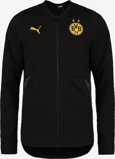 PUMA Trainingsjacke 'Borussia Dortmund Casuals' in gelb / schwarz, Produktansicht