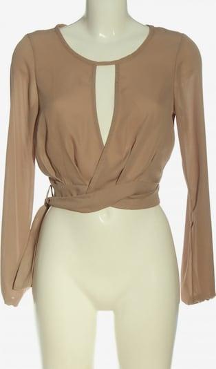 Fashion Nova Langarm-Bluse in S in braun, Produktansicht