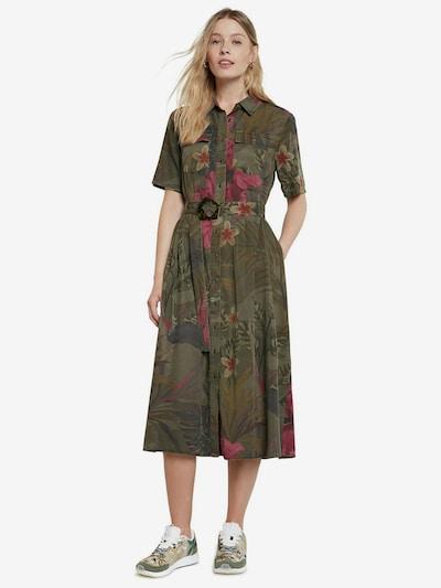 Desigual Robe-chemise 'ANGELA' en vert / mélange de couleurs, Vue avec modèle
