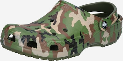 Crocs Clogs in beige / brown / green, Item view
