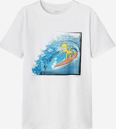LMTD T-Shirt 'Simpsons' in himmelblau / mischfarben / weiß, Produktansicht