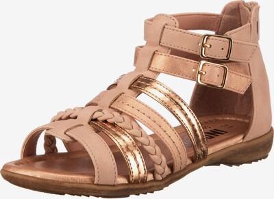 INDIGO Sandale in gold, Produktansicht