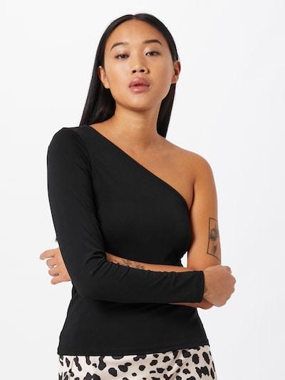 Gina Tricot Koszulka 'Josefin' w kolorze czarnym: Widok z przodu