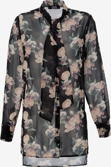 Aniston SELECTED Bluse in creme / sand / smaragd / altrosa / schwarz, Produktansicht