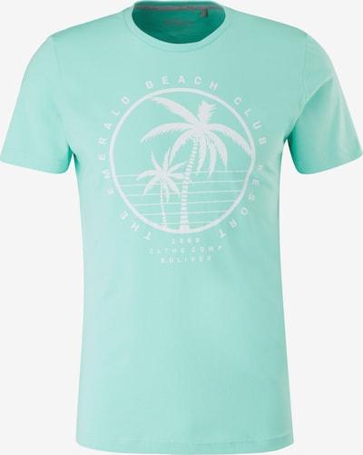 s.Oliver T-Shirt in türkis / weiß, Produktansicht