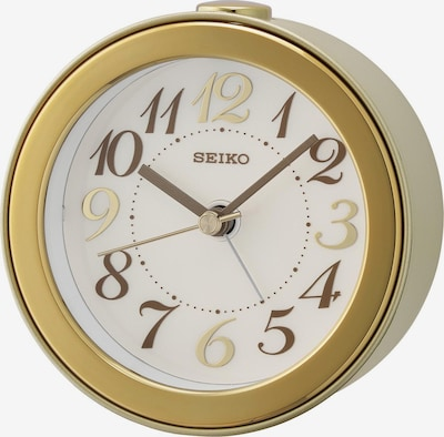 SEIKO Wecker in gold / weiß, Produktansicht
