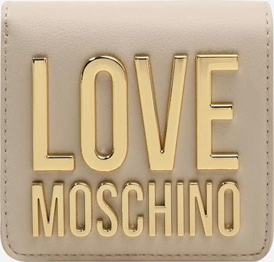 Love Moschino Portemonnee in de kleur Donkerbeige / Goud, Productweergave