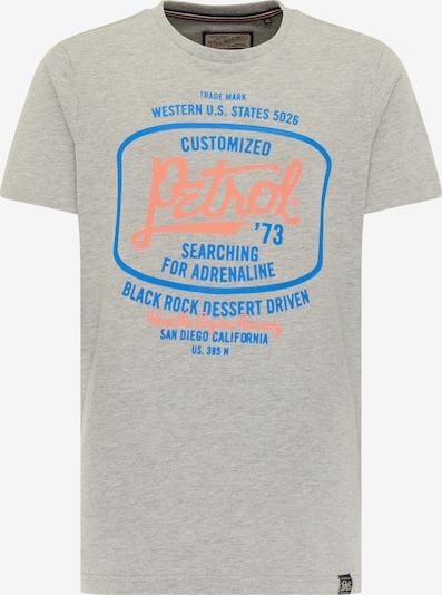 Petrol Industries T-Shirt en bleu / gris / orange, Vue avec produit