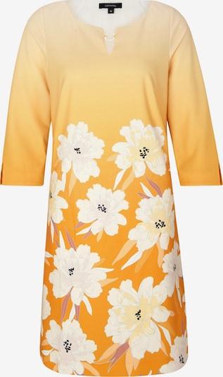 COMMA Robe en beige / jaune / blanc, Vue avec produit