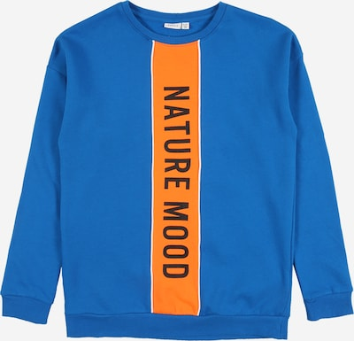 NAME IT Sweatshirt in royalblau / orange, Produktansicht