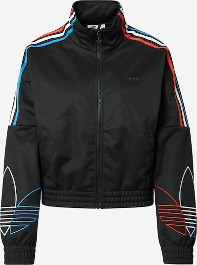 ADIDAS ORIGINALS Sweat jacket 'Adicolor Tricolor Trefoil' in Blue / Red / Black, Item view
