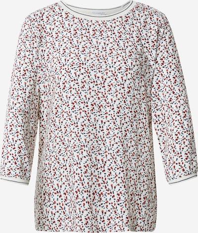 TOM TAILOR Shirt in beige / navy / orange / rot, Produktansicht