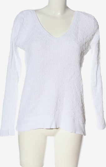 Pedro del Hierro V-Ausschnitt-Pullover in L in weiß, Produktansicht