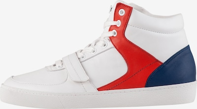 Högl High-Top Sneakers 'Run Through' in Navy / Red / White, Item view