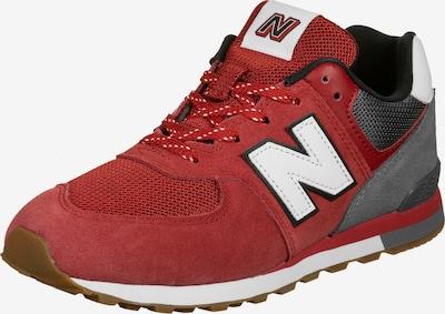 new balance Sneaker in grau / karminrot / weiß, Produktansicht