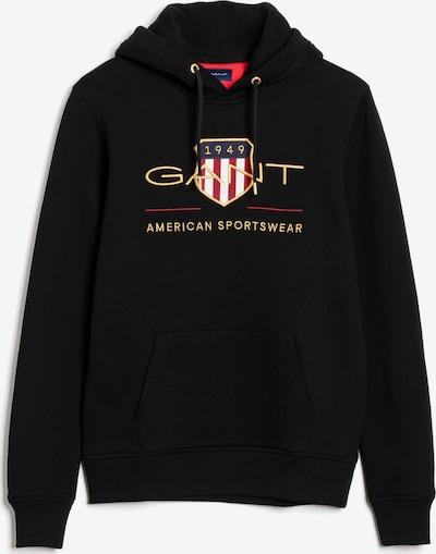 GANT Sweatshirt in goldgelb / feuerrot / schwarz / weiß, Produktansicht