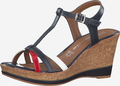 TAMARIS Sandales à lanières en bleu marine / rouge / blanc, Vue avec produit