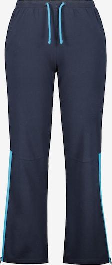 Ulla Popken Pantalon en turquoise / bleu foncé, Vue avec produit