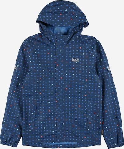 JACK WOLFSKIN Outdoorjas 'Tucan' in de kleur Navy / Royal blue/koningsblauw / Grijs / Watermeloen rood, Productweergave