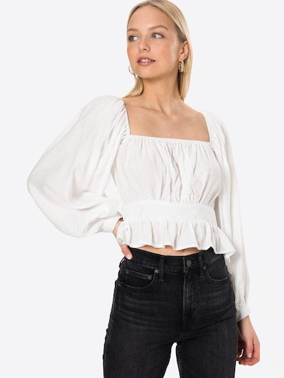 Missguided Blouse in de kleur Wit, Modelweergave