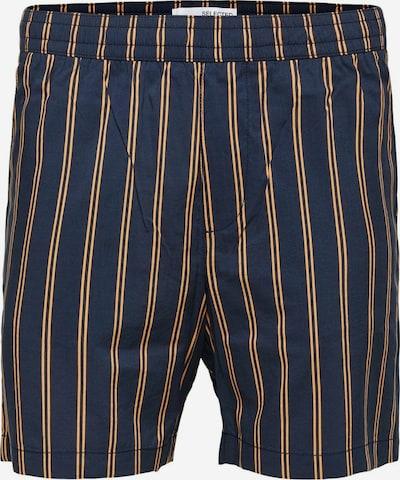 SELECTED HOMME Broek in de kleur Donkerblauw / Sinaasappel, Productweergave