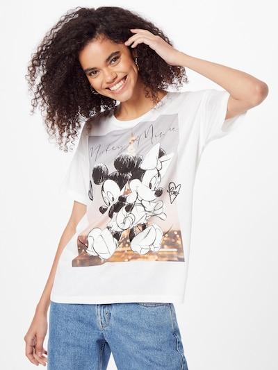 PRINCESS GOES HOLLYWOOD Shirt 'Disney mickey&minnie paris' in Brown / Grey / Black / White: Frontal view